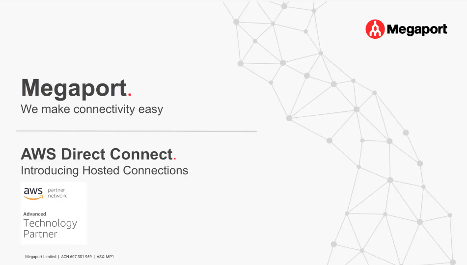 AWS Hosted Connection and Transit Gateway Webinar Thumbnail