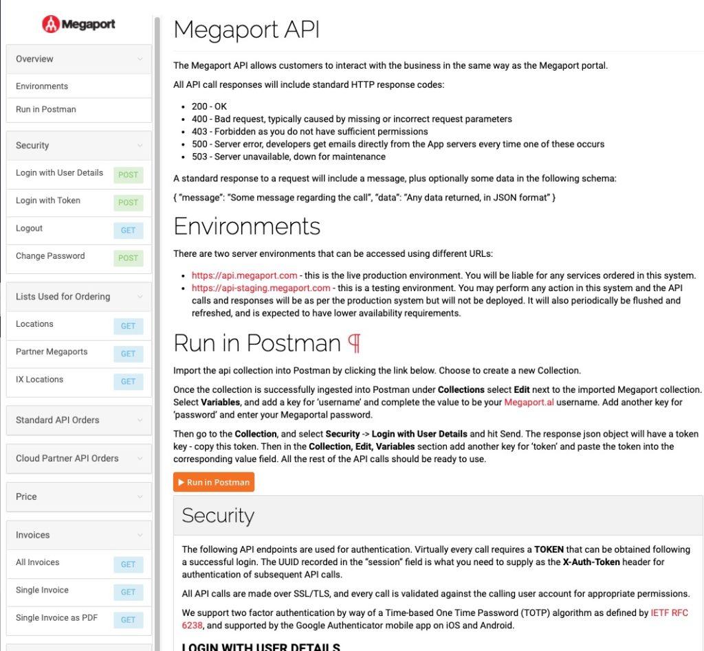 Megaport API Reference